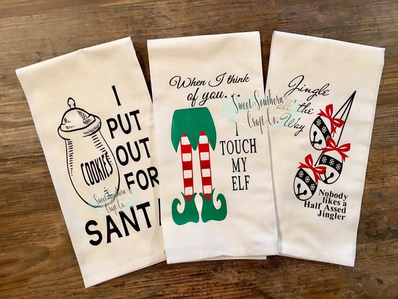 Funny Adult Humor Kitchen Towelsadult Christmas Giftfunny Etsy