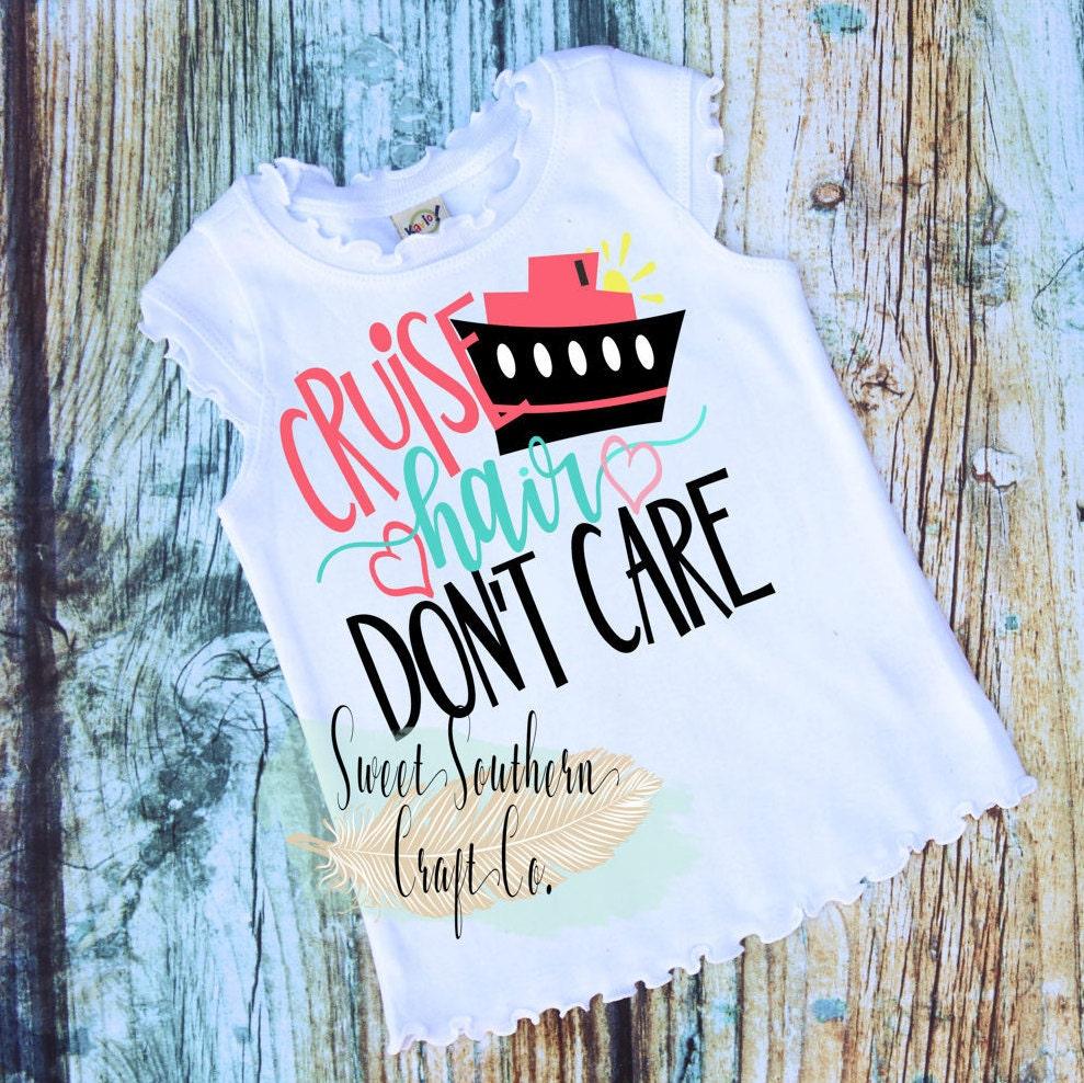 cruise hair don t care youth vacation shirt baby teen etsy rh etsy com
