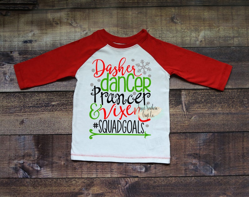 74dfebf83f Reindeer Squadgoals Kids Christmas RaglanChristmas | Etsy