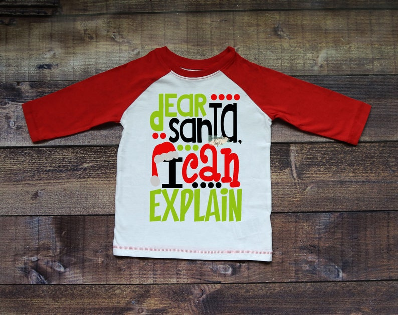 c5e84c86071b0 Dear Santa I Can Explain Kids Christmas Raglan,Christmas Shirt,Matching  Shirts,Santa Shirts,Holiday Shirt,Baseball Raglan,Elf