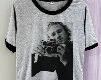 ca58f25a Gildan Premium Cotton Heath Ledger Shirt Hot Legend Short Sleeve Two Tone  Grey Gray Tee Clothing