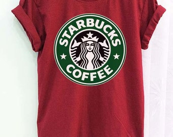 f352b4092d Starbucks Shirt Clothing Logo Crimson Red Women Tshirt Tee Short Sleeve T- Shirt SMLXLXXL