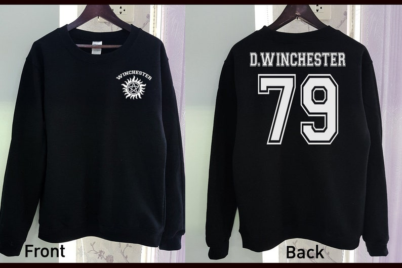 fb46f1bb0523 Dean Winchester Sweatshirt Shirt Gildan Supernatural 2 Colors