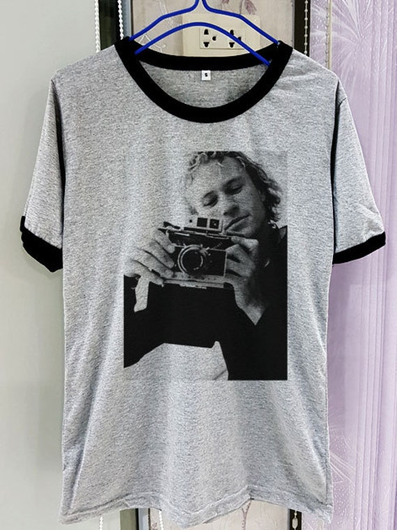 d1db0398 Gildan Premium Cotton Heath Ledger Shirt Hot Legend Short   Etsy