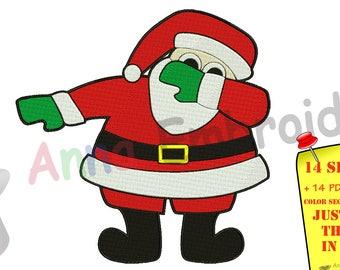 c06dd55c256a Santa Embroidery Design-Machine Pattern-Dabbing Santa-PES