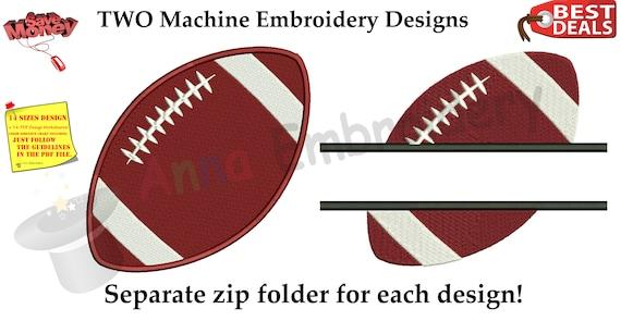 Football Embroidery Design American Football Design Ball Etsy
