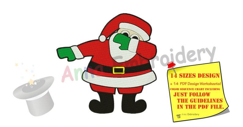 1339a004241de Santa Embroidery Design-Machine Pattern-Dabbing Santa-PES