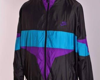 Herren Nike Retro Sport Jahrgang Anorak Jacke Größe L XL