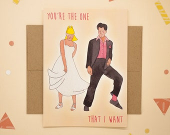 """Sandy & Danny - Grease - """"You're the one that I want"""" - Print postcard"""
