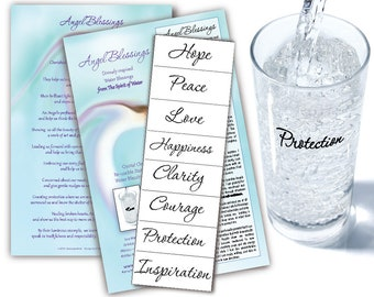 Angel Blessings Water Blessing Labels