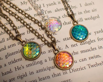 Dragon Mermaid Scale Necklace Pendant