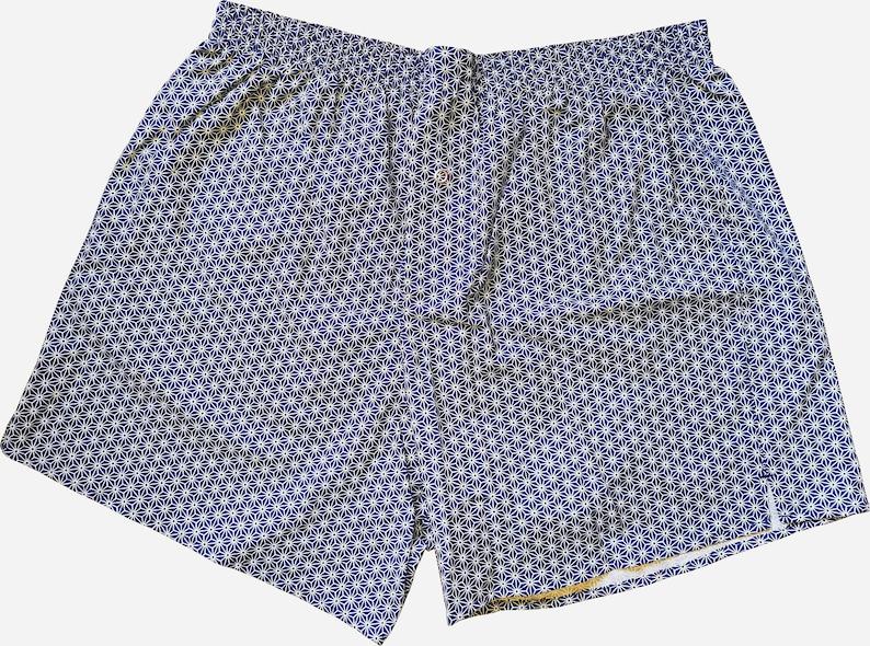 Boxershorts Hemp Pattern  Handmade Cotton Japan Geisha image 1