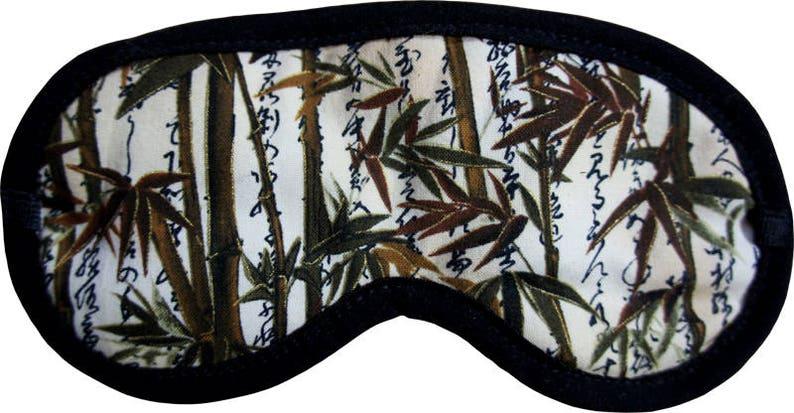 Sleepingmask different Motives  Cotton Silk Handmade Bamboo image 0