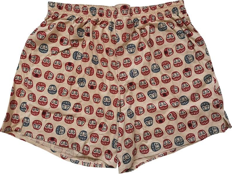 Boxershorts Daruma  Handmade Cotton Japanese/ Daruma Print image 0