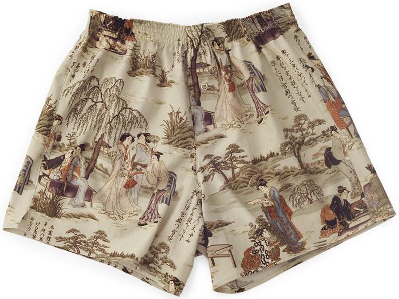 Boxershorts Toyotomi  Handmade Cotton Japanese/ Geisha image 0