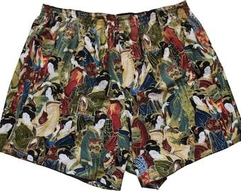 Boxershorts Akabane - Handmade, Cotton, Japanese/ Geisha Print, Colourfull, MAKONIA