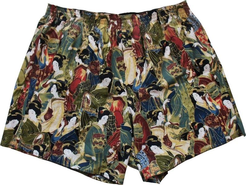 Boxershorts Akabane  Handmade Cotton Japanese/ Geisha image 0