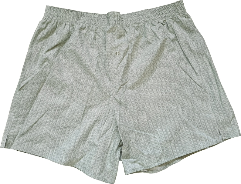 Boxershorts Seigaiha Pattern  Handmade Cotton Japanese image 0