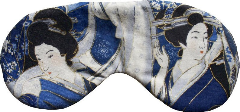 MAKONIA Sleepingmask different Motives  Cotton Silk Handmade image 0