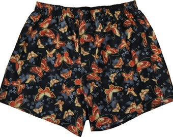 Boxershorts Haribe - Handmade, Cotton, Japanese Butterfly Print, MAKONIA