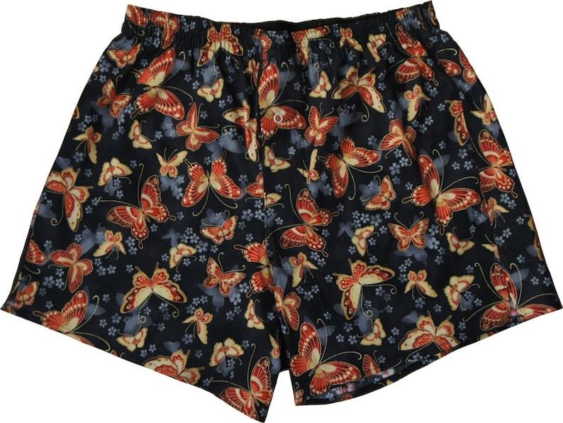 Boxershorts Haribe  Handmade Cotton Japanese/Butterfly image 0