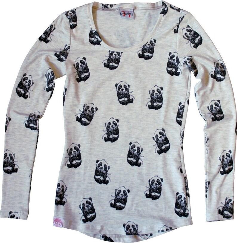 MAKONIA Longsleeve Women Panda Naturalwhite Grey Asia image 0