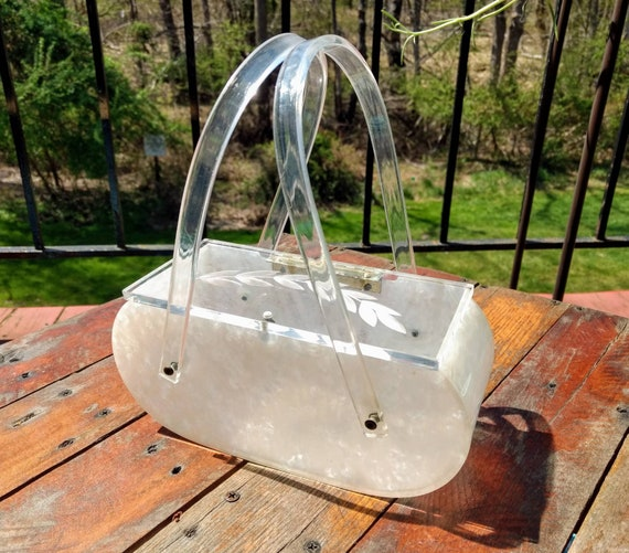 1950's Clear Design Lucite Purse