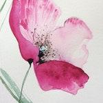 Greeting card watercolor original handmade