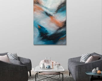 Abstract oil painting, mural, painting, unique
