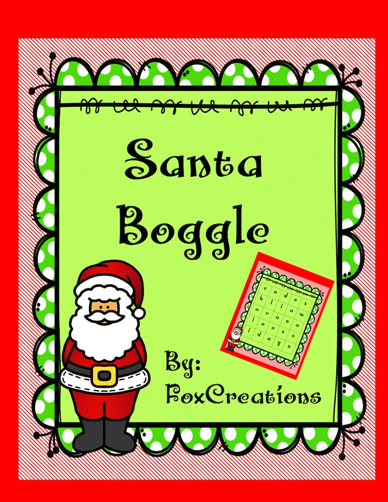 image relating to Boggle Printable identified as Xmas Boggle~ Getaway Printable Online games ~ Operate Get-togethers, Clroom Get-togethers.