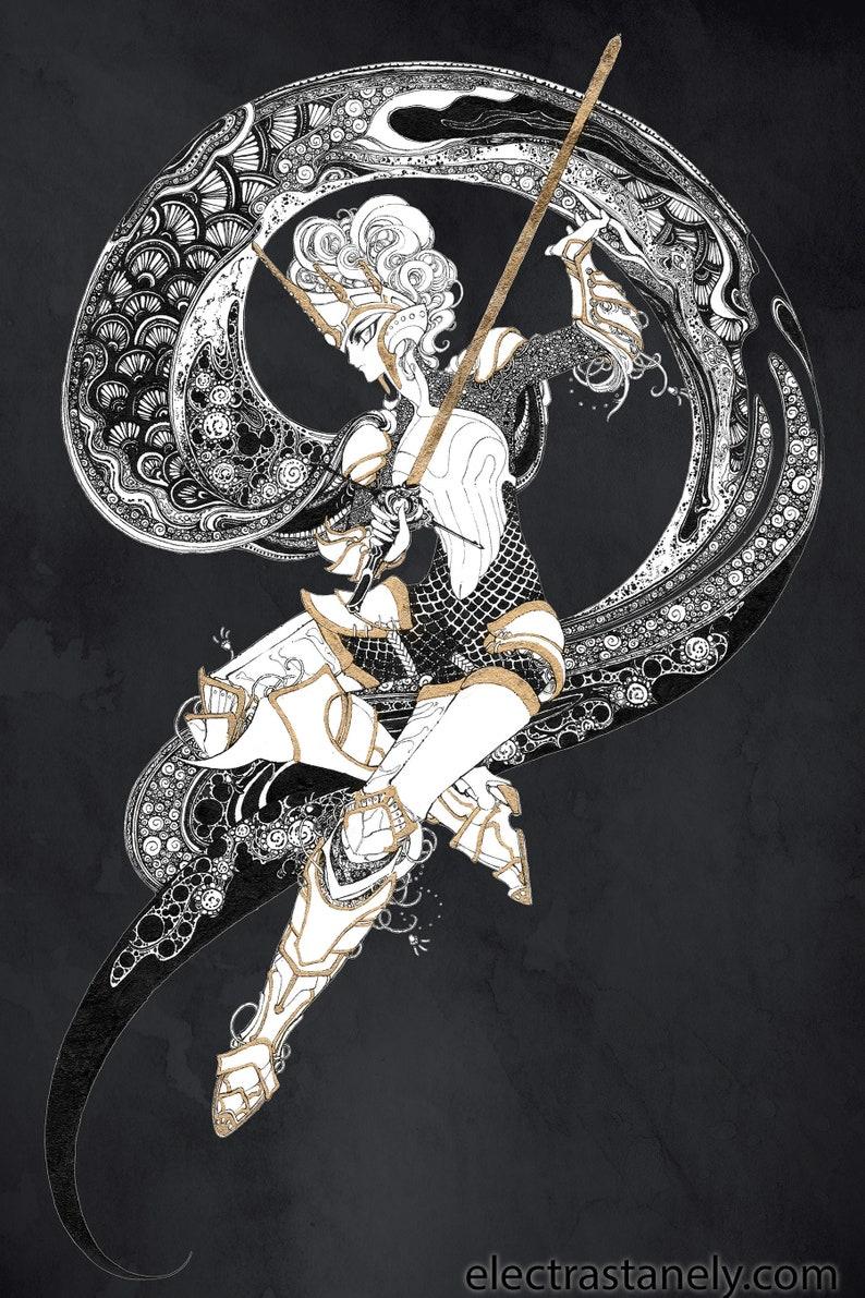 Art print 'Female Knight' image 0