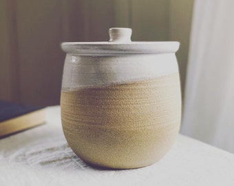 Sourdough Crock - Wheel thrown stoneware, pottery canister