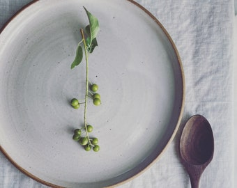 Dinner Plate - Wheel Thrown Stoneware, Salt glaze