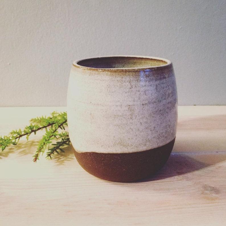 stoneware tumbler dark brown clay and speckled white glaze etsyDark Brown White Glaze #1