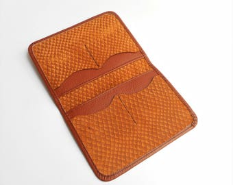 Leather passport holder, Brown Passport case, Passport Wallet, Passport Case, Brown passport wallet, Travel wallet