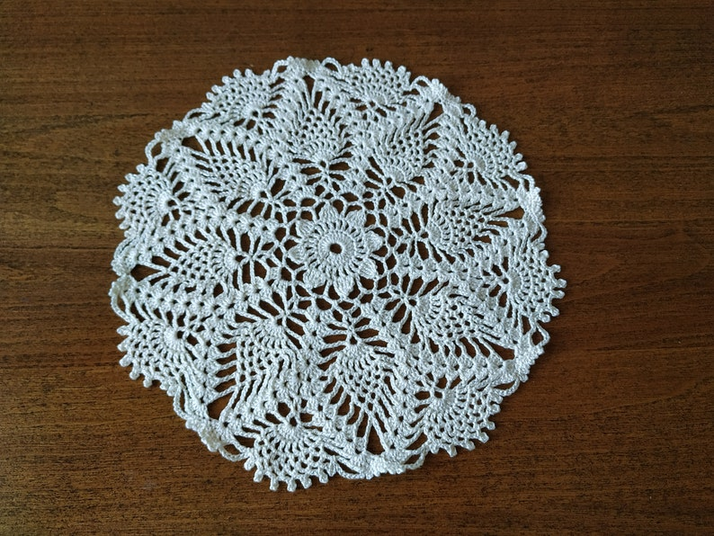 Home decor Handmade openwork knitted napkin