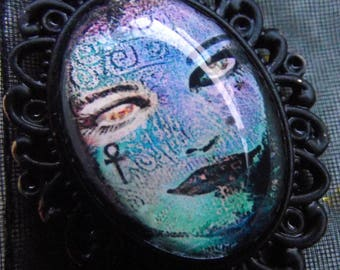 Death Pendant~ Neil Gaiman's' The Sandman' Comics! Beautiful! Original Inspired Artwork Pendant with Rope Necklace