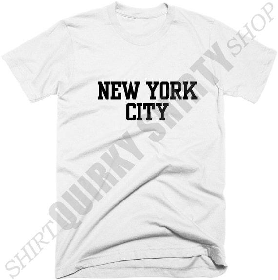 New York City T-Shirt T Shirt, T-Shirt City New York Girls, New York T-Shirt, Hipster Tumblr vêtements, ADO mode Tee Shirts avec des paroles. 0c5b22