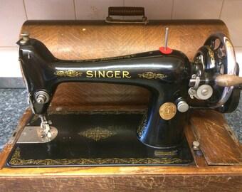 1920s Hand cranked Singer sewing machine