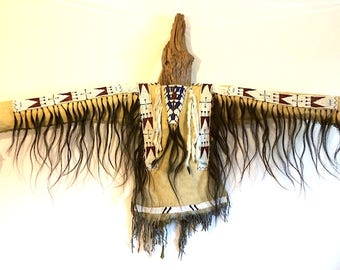 Lakota Style War Shirt, Excellence in Native Art, Finest in Tribal Display!