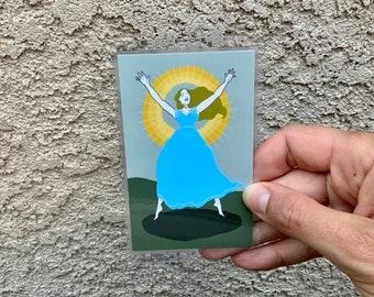 St. Corona Holy Card, Laminated Prayer Card, Patron of Treasure Hunters, Catholic Gift, Original Catholic Art