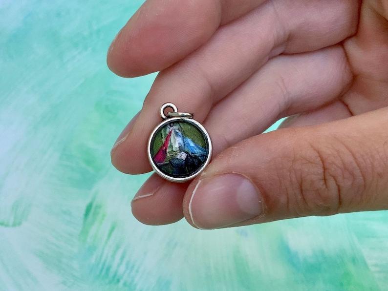St. Faustina Sparkling Catholic Saint Medal Divine Mercy image 0