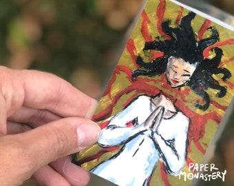 St. Lucy Yi Zhenmei Holy Card, Catholic Saint Card, Chinese Saint, Laminated Prayer Card, Catholic Gift, Chinese Catholic, Act of Faith