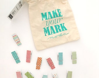 Make Your Mark Brights Clothespins by Moda
