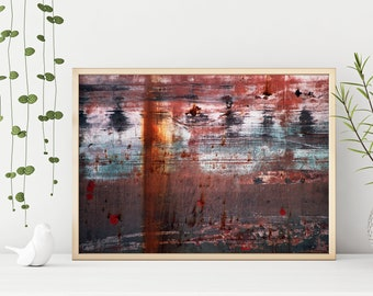 Industrial Abstract Postcard Rust with envelop option  Modern Minimal Fine Art Photography Print  Greeting Card or Affordable Wall Art