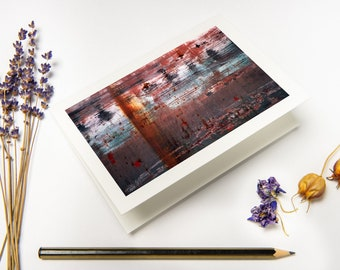 """Minimal Greeting Card """"Rust"""" with recycled envelopes // Abstract Industrial Fine Art Photography Print as Folded Card on eco-friendly paper"""