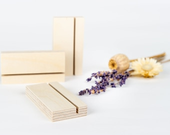 Minimal Card Holder 'Anna' // Small Wooden Photo Holder to display Postcards, Pictures and Art Prints on a desk, side table or craft fair