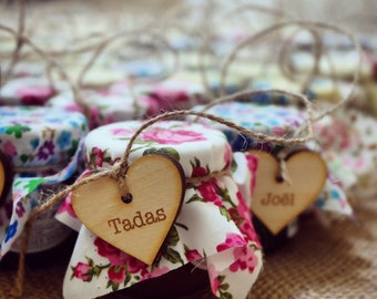 Baby shower, baby shower favours, jam, place names, rustic baby shower, guest names, jam favour, chocolate baby shower, mummy to be