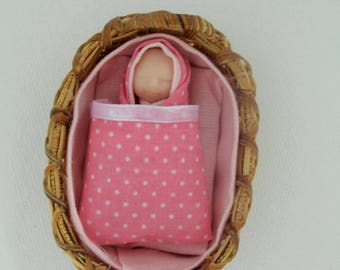 doll house doll, doll house baby, 12th scale baby, miniatures baby, ooak baby