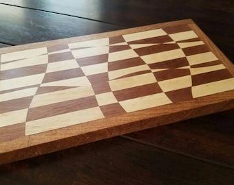 Striped Drunken Cutting Board
